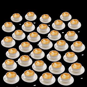 Über 30 Tassen Kaffee