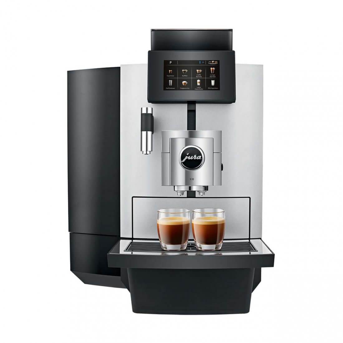 JURA X10: Der Kaffeespezialitäten-Profi - modern, robust, komfortabel, vielseitig!